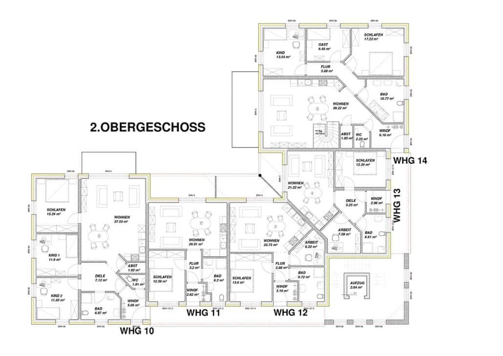 baupl ne f r ein kfw energiesparhaus 40 wohnbau ferstl gmbh. Black Bedroom Furniture Sets. Home Design Ideas