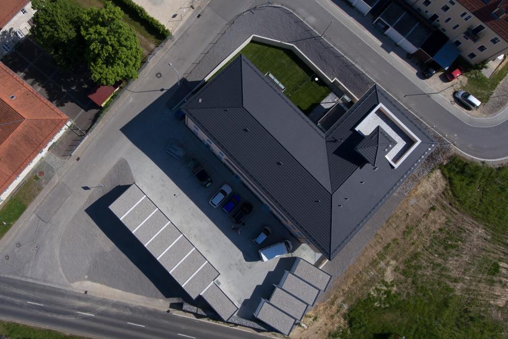 Wohnbau Ferstl Grundstück von oben - Drohnenansicht